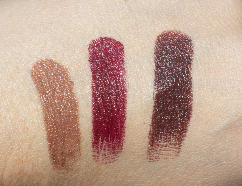 mac liptensity swatches