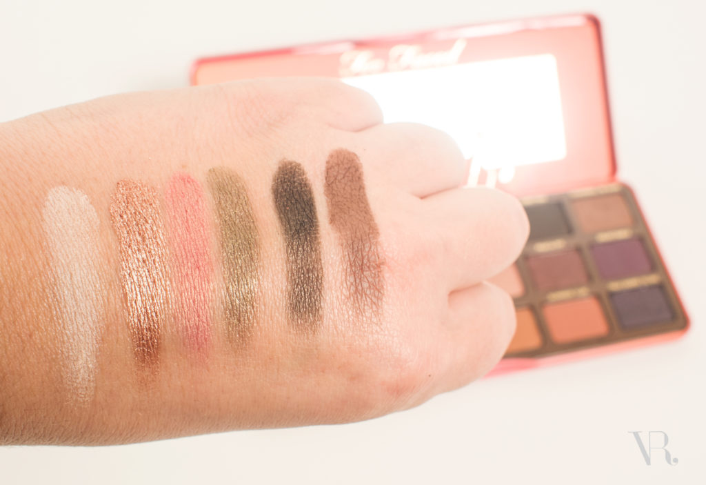 Too Faced Sweet Peach Palette swatches